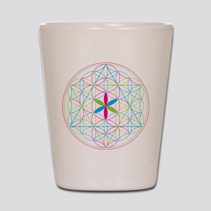 Flower of life tetraedron/merkaba Shot Glass