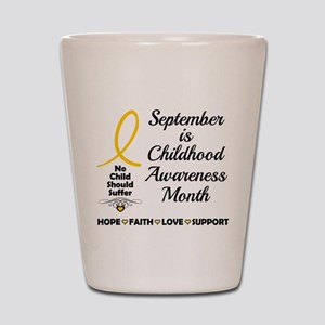 Childhood Cancer Awareness Shot Glass