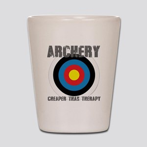 Archery, Cheaper Than Therapy Shot Glass