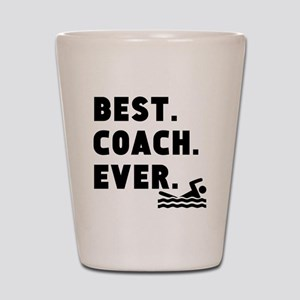 Best Coach Ever Swimming Shot Glass
