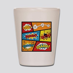 Comic Effects Shot Glass