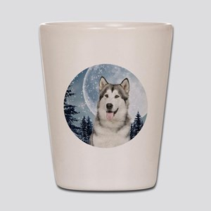Winter Moon Husky Shot Glass