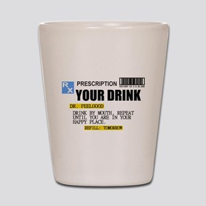 Personalize Prescription Drink Shot Glass