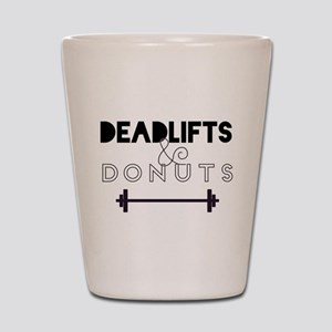 Deadlifts & Donuts Shot Glass