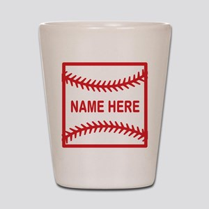 Baseball Laces Personalzied Name Shot Glass