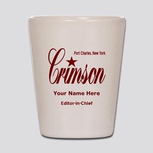 Crimson Editor-in-Chief Customized Shot Glass