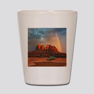 Rainbow In Grand Canyon Shot Glass