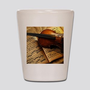 Violin On Music Sheet Shot Glass