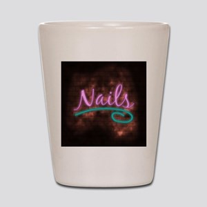 Neon Nails Sign Shot Glass