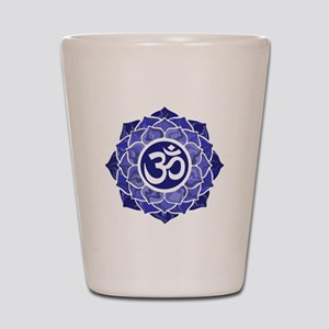 Lotus-OM-BLUE Shot Glass