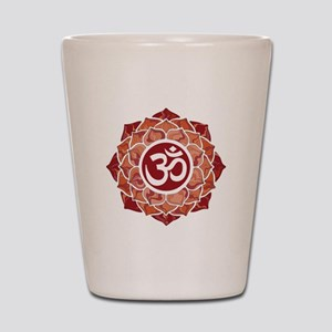 Lotus-OM-Red Shot Glass
