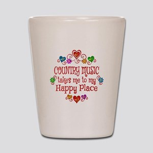 Country Happy Place Shot Glass