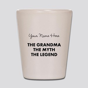 Custom Grandma Myth Legend Shot Glass