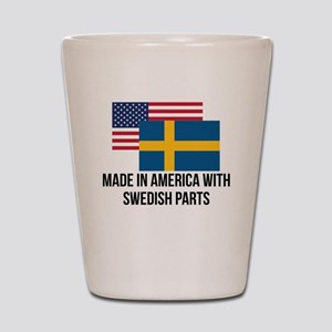 Swedish Parts Shot Glass