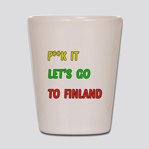 Let's go to Finland Shot Glass