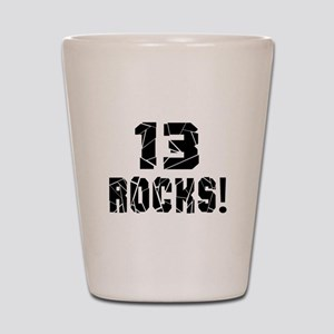 13 Rocks Birthday Designs Shot Glass