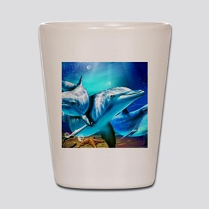 Dolphins Shot Glass