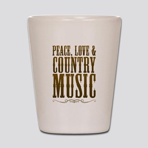 Peace Love Country Music Shot Glass