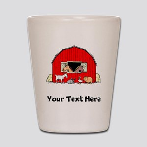 Barn Animals (Custom) Shot Glass
