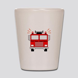 Personalized Fire Truck Shot Glass