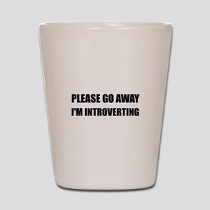 Go Away Introverting Shot Glass