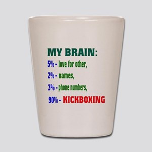 My Brain, 90% Kickboxing Shot Glass