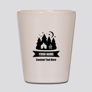 CUSTOM Camping Design Shot Glass