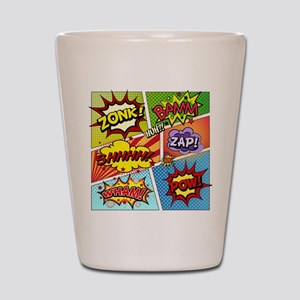 Colorful Comic Shot Glass