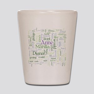 Anne of Green Gables Word Cloud Shot Glass