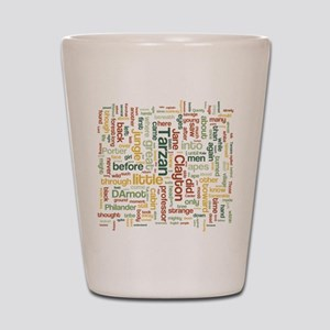 Tarzan Word Cloud Shot Glass