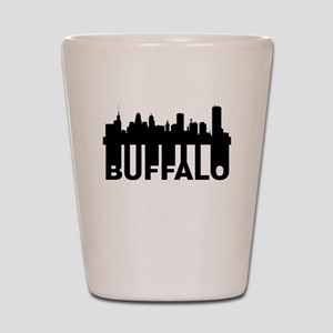 Roots Of Buffalo NY Skyline Shot Glass