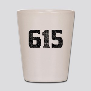 615 Nashville Area Code Shot Glass
