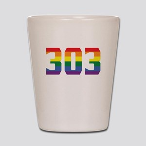 Gay Pride 303 Denver Area Code Shot Glass