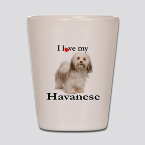 Love My Havanese Shot Glass