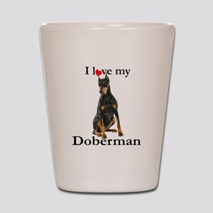 Love my Doberman Shot Glass