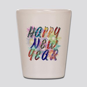 Happy New Year Works Shot Glass