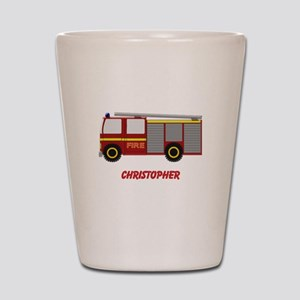 Personalized Fire Engine Design Shot Glass