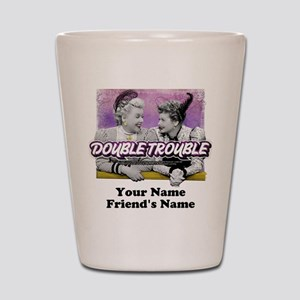 Double Trouble Personalized Shot Glass