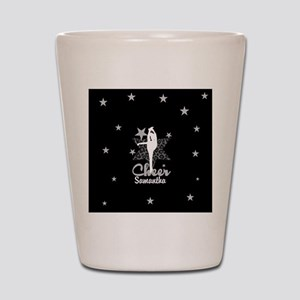 Black Allstar cheerleader Shot Glass