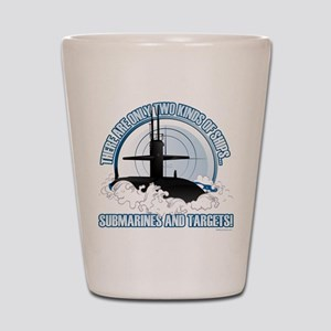 Submarines And Targets Shot Glass