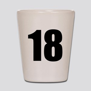 Number 18 Shot Glass