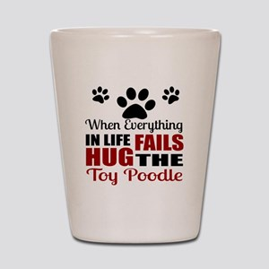 Hug The Toy Poodle Shot Glass