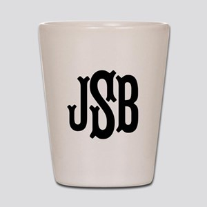 Monogram Initials Personalized Shot Glass
