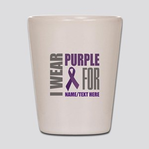 Purple Awareness Ribbon Customized Shot Glass