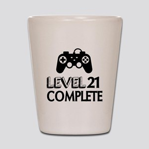 Level 21 Complete Birthday Designs Shot Glass