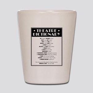 Theatre Dictionary Shot Glass