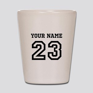 Personalize Sports Jersey Shot Glass