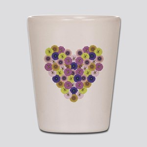 Pansy Heart Shot Glass