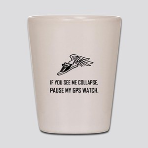 See Runner Collapse Pause GPS Watch Shot Glass