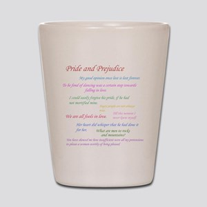 Pride and Prejudice Quotes Shot Glass